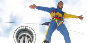 Freefall from the SkyTower at 85km/hour.